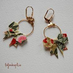 Handmade Origami Jewelry Earrings Lafeedesplis