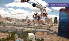 Groupon - $ 46 for VIP Ride Package for Two at VooDoo Zipline at the Rio Las Vegas ($74 Value)  in Paradise. Groupon deal price: $46