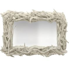 Custom Driftwood Mirror: White Gloss This except add sea glass! Driftwood Frame, Painted Driftwood, Driftwood Projects, Driftwood Ideas, Diy Projects, Eclectic Wall Mirrors, Sticks And Stones, Shell Crafts, Do It Yourself Home