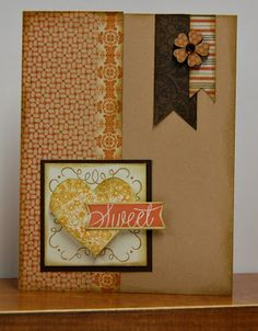 card by Lynn Darda using CTMH Buzz and Bumble paper