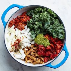 30-Day Fiber-Up Challenge Pasta Recipes, Cooking Recipes, Healthy Recipes, Pasta Meals, Diet Recipes, Healthy Sauces, Beef Pasta, Kale Recipes, Top Recipes