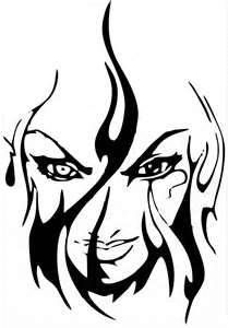 Airbrush Stencil By Deltaarts Skull Products Buy Tattoo