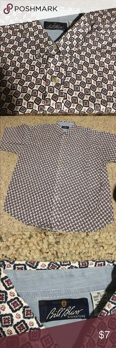 XL Bill Blass SS men's Shirt Bill Blass SS shirt XL. Front chest pocket. Used, good condition. Bill Blass Shirts Dress Shirts