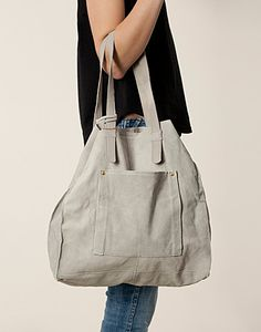 Simple Suede Tote Bag - River Island - Grey - Bags - Accessories - NELLY.COM UK