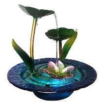Fonte De Agua Cascata Decorativa Metal Flor Folhas Decoracao