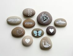 Collectionof10PaintedStones-LoveNatureAstronomy-NatashaNewton-770