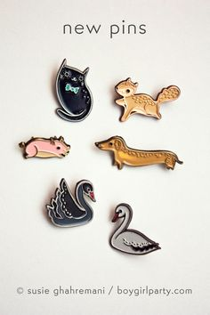 NEW PINS!! by boygirlparty http://boygirlparty.etsy.com
