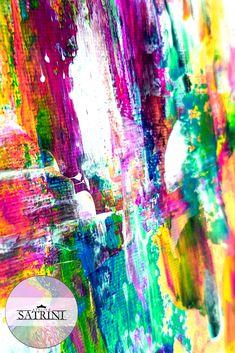 Acrylic color on canvas   Spatula art technique    Abstract Art by Satrini   Interior Design Idea Art Abstrait, Acrylic Colors, Unique Colors, Interiores Design, Art Techniques, Abstract Art, Canvas, Creative, Artwork