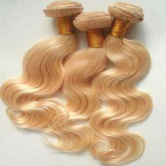 Blonde Peruvian virgin hair weaves From Fashionhairqd, $36.19| Dhgate.Com