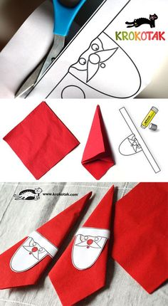 Santa – napkin ring and beautiful tag is creative inspiration for us. Get more photo about DIY home decor related with by looking at photos gallery at the bottom of this page. We are want to say thanks if you like to share this post to another people via your …