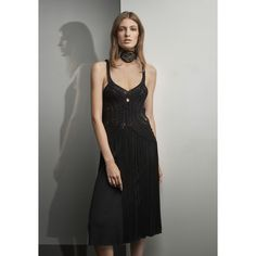 Crocheted Fringe-Trim Dress