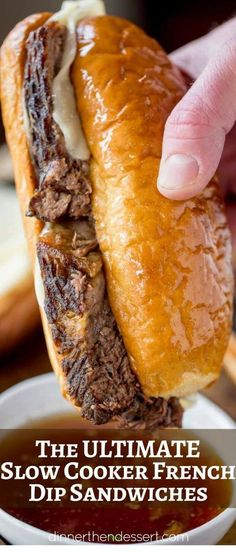 We LOVED these Slow Cooker French Dip Sandwiches! – Slow Cooker – Ideas of Slow … We loved these Slow Cooker French Dip sandwiches! – Slow Cooker – Ideas for slow cookers – We loved these Slow Cooker French Dip sandwiches! Crockpot Dishes, Crock Pot Slow Cooker, Crock Pot Cooking, Beef Dishes, Slow Cooker Recipes, Crockpot Recipes, Casserole Crock Pot, Cooking Steak, Yummy Recipes