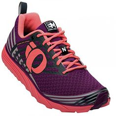 Pearl Izumi Womens W Em Trail N 1 Dplc Women's Trail Running Shoes Shoe Dark PurpleLiving Coral 65 B US *** Want additional info? Click on the image.