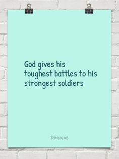 gods gives toughest battles to - Google Search