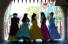 Snow White, Ariel, Belle, Princess Aurora and Cinderella