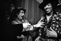 The Jimi Hendrix Experience press conference on top of Pan Am building by Elliott Landy, NYC, 1968
