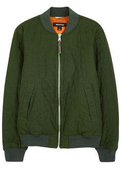 Whistles army green cotton bomber jacket
