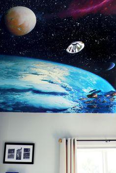 Space Mural by zebo ludvicek, via Behance
