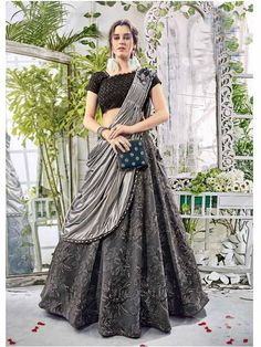 Buy designer lehenga choli ,wedding lehenga choli,bridal lehenga choli and partywear lehenga choli online.Select from latest designs of lehenga choli from Fashneez. Lehnga Dress, Bridal Lehenga Choli, Indian Lehenga, Ghagra Choli, Black Lehenga, Western Lehenga, Chaniya Choli Designer, Lehenga Choli Latest, Lehenga Blouse