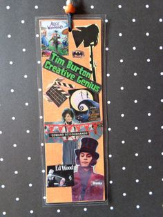 Tim Burton Movies Collage Bookmark by Pepperland on Etsy