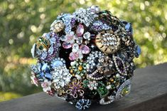 CUSTOM Wedding RHINESTONE CRYSTAL Vintage Brooch Bouquet - to fit your style, budget & colors, vintage bridal bouquet