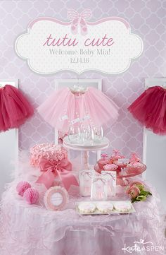 What's more adorable than a Tutu Cute baby shower for a baby girl? Plié this way for more fabulous shower ideas and details from our newest collection!