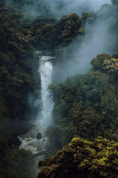 waterfall, taiwan #nature #landscapes