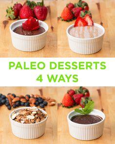 4 Paleo Desserts