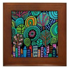 Manhattan City Art Central Park of painting by HeatherGallerArt City Skyline Art, City Art, Nyc Skyline, Art Central, Central Park, Ceramic Tile Art, Art Tiles, Painting Tiles, Park Art