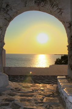 Paros, Greece  Patio of St Konstantine church
