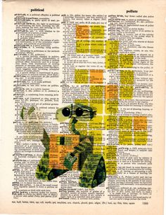 Repurposed Vintage Dictionary Art Featuring Disney's Wall*E... Buy 2 get 3rd Free by SimpleeSaid on Etsy