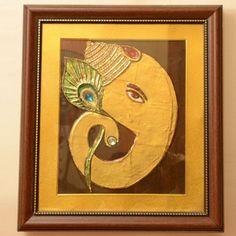 Ganesha Tanjore Wall Painting