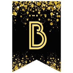 Banderines confeti del oro del ☆HAPPY BIRTHDAY☆ | Zazzle.com Diy Birthday Lawn Signs, Happy Birthday Signs, Alphabet Wallpaper, Banner Letters, Gold Confetti, Bold Typography, Bunting Banner, Flag Design, Carrie