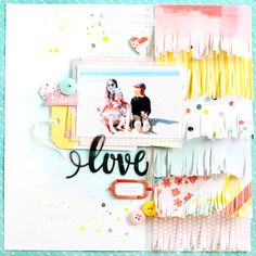 Mothers: Love My (Crazy) Tribe Layout Pink Paislee Beach Scrapbook Layouts, Scrapbook Sketches, Diy Scrapbook, Scrapbook Albums, Scrapbooking Layouts, Scrapbook Patterns, Wedding Scrapbook, Project Life Scrapbook, Scrapbook Journal