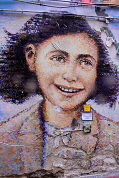 Berlin street art - Anne Frank You Love Street art Urban Graffiti art style Things, check => https://www.etsy.com/shop/urbanNYCdesigns?ref=hdr_shop_menu