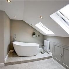 ideas bath room inspiration white farrow ball for 2019 Attic Master Bedroom, Attic Bedroom Designs, Bedroom With Bath, Bedroom Loft, Baths In Bedrooms, Bath Room, Loft Ensuite, Loft Bathroom, Upstairs Bathrooms