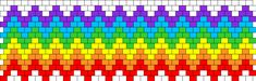 Rainbow Zig Zag Peyote bead pattern Peyote Stitch Patterns, Kandi Patterns, Beading Patterns, Bead Loom Designs, Patron Crochet, Beaded Banners, Bead Loom Bracelets, Peyote Beading, Tapestry Crochet