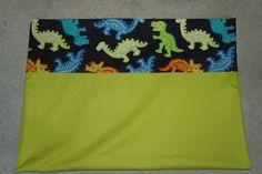 dinosaur pillowcase by ThreeHighChairs on Etsy