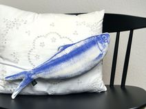 Fisch • Kissen blauer Hering Adams Braut, DaWanda