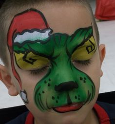 Boy Christmas Face Paint Design
