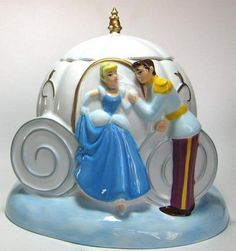 Cinderella's enchanted pumpkin carriage cookie jar