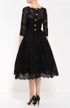 Dolce & Gabbana Кружевное платье с укороченным рукавом и пышной юбкой Черный 490 000 Р.