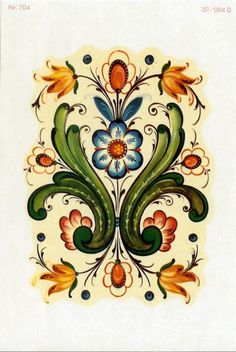 Two Rosemaling Rosemal decals by bobbinrobin on Etsy