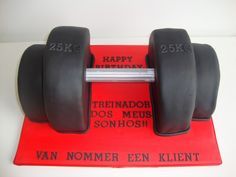 Weights Dumbbell Cake