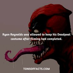 Ryan Reynolds was allowed to keep his Deadpool costume after filming had completed. Deadpool Facts, Deadpool Stuff, Deadpool Funny, Marvel Facts, Marvel Memes, Marvel Comic Universe, Comics Universe, Marvel Dc Comics, Superhero Facts