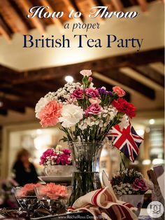 Great details on how to throw a proper British tea party! Perfect idea for a wedding bridal shower theme or baby shower!
