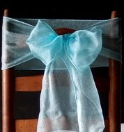 Cool Mint Green Organza Chair Sashes (9FT, 10 PACK)
