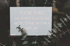 You're not to much Stress, Dont Be Afraid, Encouragement, God, Forgiveness, Pictures, Dios, Allah, Psychological Stress