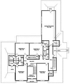 #653912 - Two story 6 bedroom, 4.5 bath french style house plan : House Plans, Floor Plans, Home Plans, Plan It at HousePlanIt.com