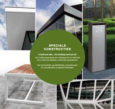 Eén van de voordelen van aluminium is dat het bijzonder flexibel is. We kunnen er dus alle kanten mee uit! Welke constructie zou jij graag willen laten uitvoeren?